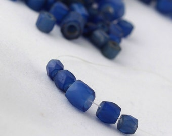Antique Faceted Russian Blue Trade Beads - 5
