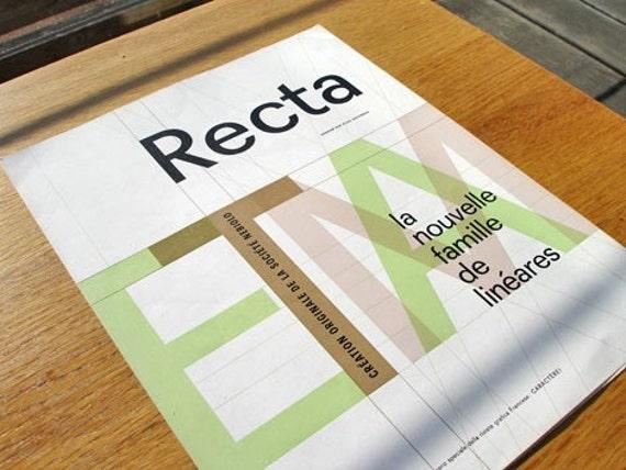 Recta Type Specimen by Aldo Novarese