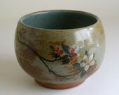 Medium Blossom Bowl - woodfired stoneware