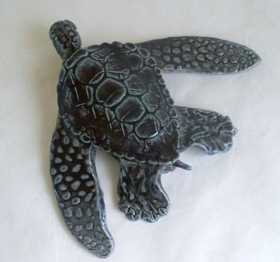 Ceramic Sea Turtle - eggplant