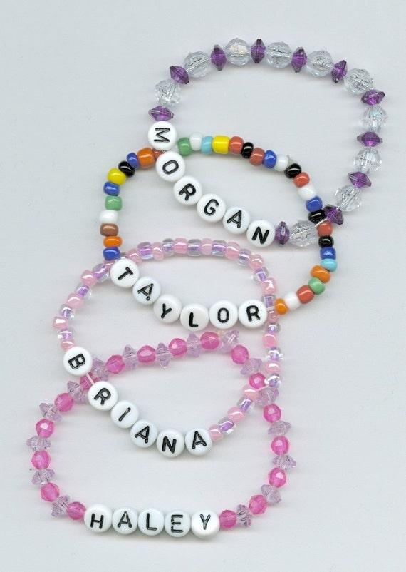 ANY NAME Custom Bracelet - Personalized Children's Beaded Jewelry