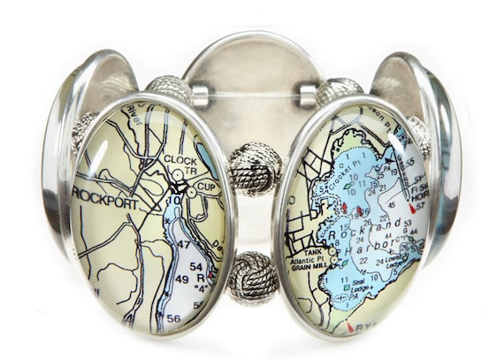 Midcoast Maine Five-Cameo Stretch Bracelet