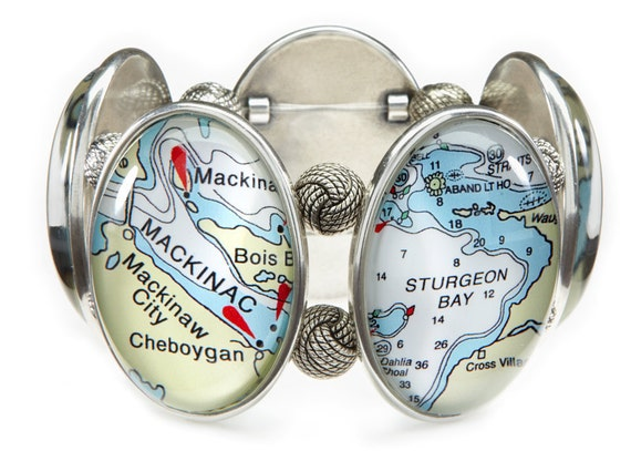 Lake Michigan Five-Cameo Stretch Bracelet