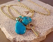 PARVANA - Butterfly Cascade Turquoise Necklace