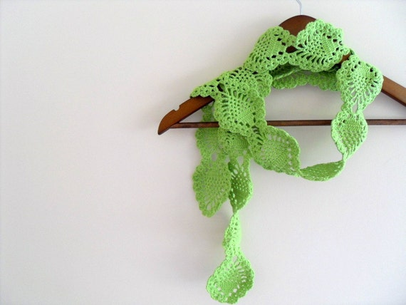 Pineapple Scarf, Pistachio Green Soft Scarf, Lime Green,Peridot-Forest Moss Green