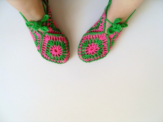 SALE Home Slippers Valentines Day Gift Pistachio Green And Pink Square Slippers Soft Cute Baby Lime Peridot Grass