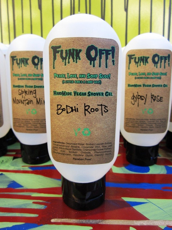 Bodhi Roots. Peace, Love, and Soap Suds. Shower Gel. SALE.