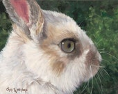 White Rabbit Giclee Canvas Print Painting Reproduction from Original Oil Painting by Cheri Wollenberg