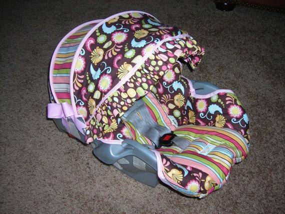 infant custom car seat cover. Black Bedroom Furniture Sets. Home Design Ideas