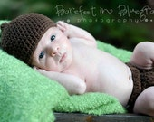 Crochet PATTERN 127, Newborn Baby Pixie Pointed Hat and Matching Diaper Cover, Photo Prop