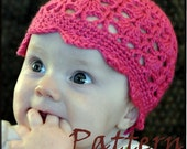 Crochet PATTERN 125, Peacock Spring Beanie Hat, Baby Photography Prop Sizes Newborn to 4