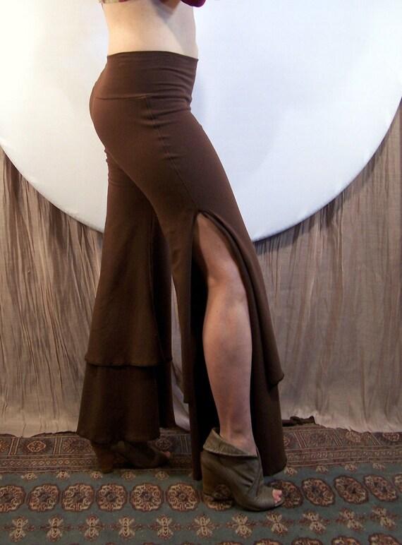 CLEARANCE  Medium Double layered Dark Brown Cotton Dance Pants