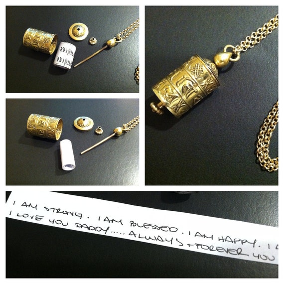 8 Auspicious Symbols - Lucky Babao Tibetan Prayer Wheel Prayer Box Necklace