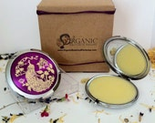 Vanilla Organic Perfume Compact -  Gold Peacock Purple compact   Free Shipping USA