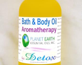 DETOX Aromatherapy Bath & Body Oil     2oz Bottle   Organic