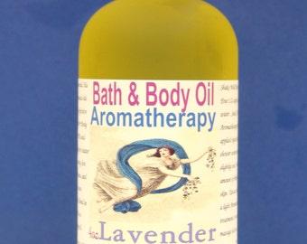 LAVENDER  Body Oil Aromatherapy Bath & Body Oil Massage Oil Organic Body Oil All Natural Holistic Healing Body Oil   2oz Bottle   Organic