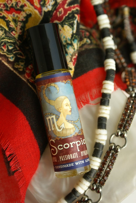 SCORPIO Organic Perfume Ylang Ylang Jasmine Vanilla Patchouli 10ml Roll-on Bottle All Natural Botanical Fragrance  FREE SHIPPING Usa