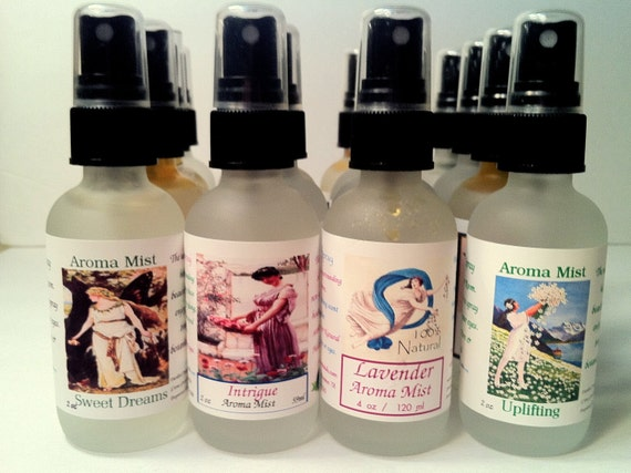 LAVENDER Essential Oil Body/Room Mist All Natural Linen Spray Air Fresheners Home and Living Pillow spray room spray and body spray