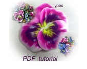 Pansies. Polymer clay tutorial.