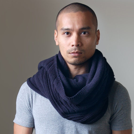 Hand Knit Mens Scarf - Duality Delta