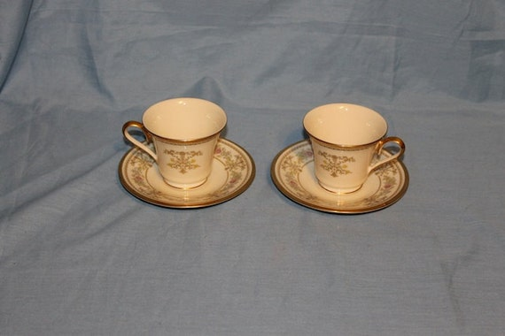 2 Lenox Castle Garden Cup and Saucer Set, Never Used, Item 974