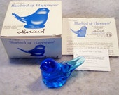 Bluebird of Happiness Signed Leoward 1989 Figurine with paperwork