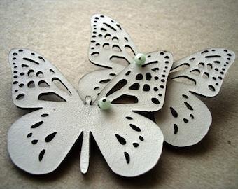 Snow White Butterflies Pin
