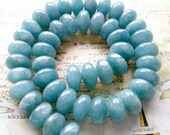 Blue Agate Gemstone Beads 14mm - Set of 5