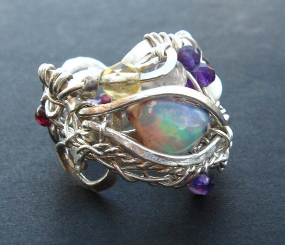 Items Similar To Opal Ring Exquisite Braided Opal: Items Similar To Opal Dragon Ring