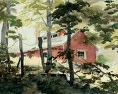 Stein's Sugarhouse - Open edition print of an original watercolor (fits 11x14 frame)