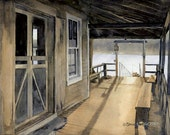 Day's End, Hog Island Maine - Open edition print of an original watercolor (fits 11x14 frame)