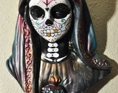 Day of the DeadVirgin Mary Tea Light Candle Statue Altar Piece