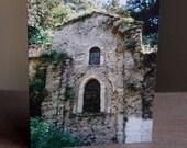 Monastery Greeting Card - Samos, Greece