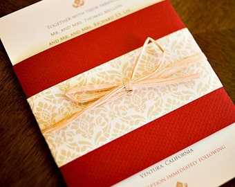 Hint of Vintage - Wedding Invitation
