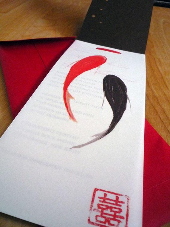 Koi Fish - Wedding Invitation Booklet
