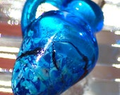 Summer Skies - Handmade lampwork vessel.