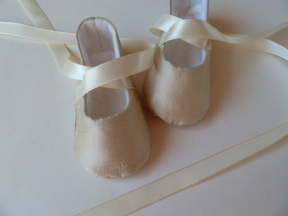 Baby Girl Shoes Infant Ballet Shoes Ivory Ballet