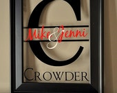 Personalized Family Name Sign Picture Frame Wall Sign