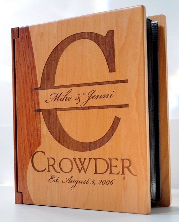 Personalized Photo Album Picture Album Made from Maple and Rosewood
