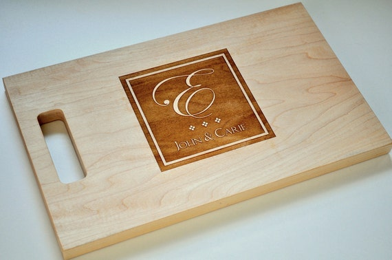 Personalized Cutting Board Laser Engraved Wood Cutting Board CB814SI