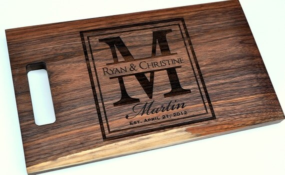 Cutting Board Personalized Cutting Board Laser Engraved 11x15 Wood Cutting Board CB1115LI