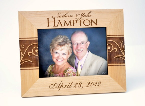 Personalized Picture Frame for 4x6 photo Laser Engraved Personalized Photo Frame