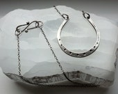 Sterling Silver 'Lucky' Horseshoe Necklace Pendant