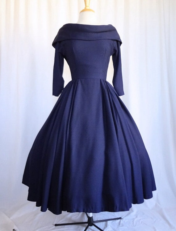 3 DAY SALE Vintage 50s Dress Glamorous New Look Suzy Perette