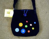 Aegean Evil Eye Messenger Shoulder Bag