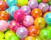 200pcs 8mm Bubblegum AB beads Acrylic Plastic Mixed Colors