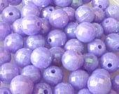 80pcs 8mm Disco Ball AB Acrylic Plastic Beads Lavender