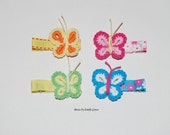 Butterfly Hair Clippie Collection