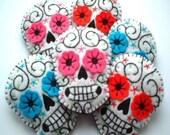 Sugar Skull Day of the Dead Tattoo Brooch Pin