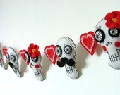 Mexican Wedding Day of the Dead Couple Sugar Skull Garland